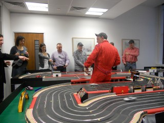 Giant Scalextric 6 lane circuit